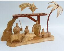 Krippenstall m. Figuren geschnitzt, Muster Orig. Handwerkskunst a.d. Erzgebirge