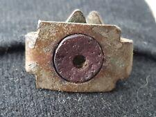 VR & unique type late Roman Christian bronze cross ring, please read below. L45n