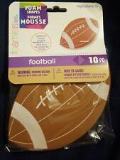 Foamies Shapes Footballs Darice 10 Pieces