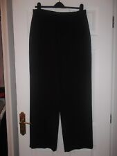 DUNNES DARK CHOCOLATE BROWN POLYESTER TROUSERS SIZE 14 (31.5 LEG)