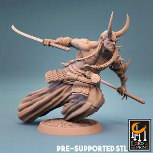 Samurai Demon Miniature D&D DnD Pathfinder RPG