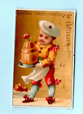 Vintage Trade Card French Chromo Saintoin Freres Orleans Chocolaterie Patissier