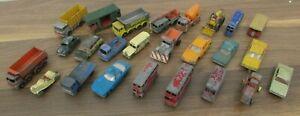 Joblot of Vintage Lesney Matchbox Diecast Vehicles - Cars Truck Bus Snow Plow