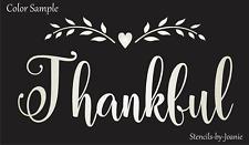 "Joanie 7""x12"" Stencil Thankful Willow Branch Heart Home DIY Craft Art Signs"