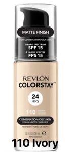 REVLON COLORSTAY MATTE FOUNDATION *110 IVORY* 30ml Brand New Oily