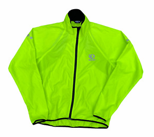Pearl Izumi Men's Windbreaker Yellow Shell Lightweight Zip Cycling Jacket | L