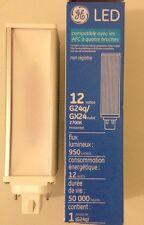 GE LED Light Bulb 12 W/ 4-pin / G24q- Gx24/life 50,000 Hrs/ 950 Lumens