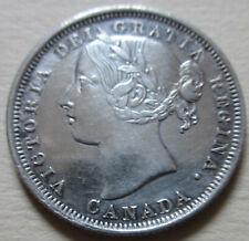 1858 Canada Twenty Cents Coin. EF KEY DATE (Q356)