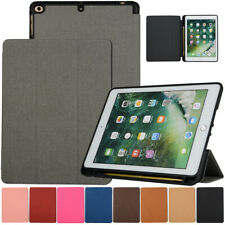 For iPad Pro 10.5 Air 9.7 2018 6th Gen PU Leather Smart Case with Pencil Holder