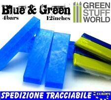 COMBO Blue Stuff + Materia Verde Green Stuff 30cm per fare Stampi e instant mold