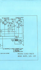 Nice *COPY* Bulova 100 110 120 AM Transistor Clock Radio Schematic Diagram