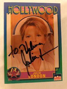 JULIE LONDON 1991 STARLINE HOLLYWOOD WALK OF FAME #144 AUTOGRAPHED CARD