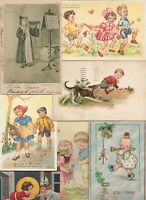 Artist Signed Happy Kids Playing making Music and more Postcard Lot of 20 01.13