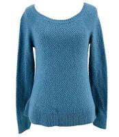 Ann Taylor Loft Women's Blue Long Sleeve Pullover Sweater Size Large