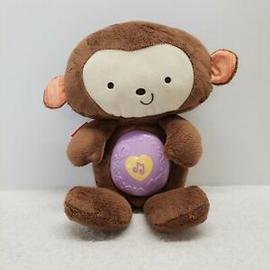 Fisher-Price SnugAMonkey Lights Soother Musical nature sounds plush monkey brown
