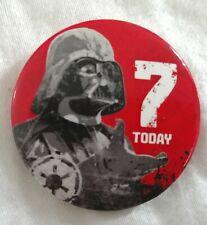 Birthday badge for 7 years old Star Wars Darth Vader