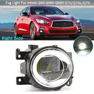 Bumper LED Fog Light RH Passenger for Infiniti 2014-2018 Q50 Q60 QX50 QX60 Q70