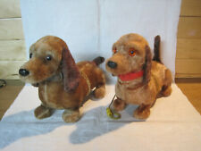 New Listing2 vintage battery operated Dachshund dog toys for repair restoration