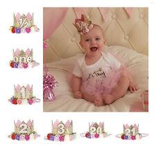 Baby Kleinkind Geburtstag Pailletten Blume Krone Haarband Kinder Stirnband Cute