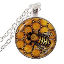 Pendant Necklace Bee on hive, Chain 50 cm
