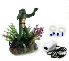 Creature from the Black Lagoon for Aquarium Ornament Fish Tank Decoration Set
