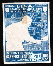 VINTAGE CINDERELLA Holland Baker Bakery Expo 1914 Old HingeTape Remnant H
