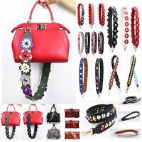 Women Flower Adjustable Handbag Strap Replacement Crossbody Shoulder Bag Straps