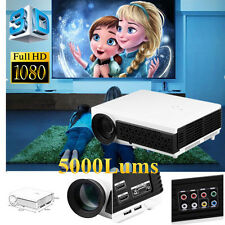 2017 5000Lx 3D 1080P Full HDMI LCD LED Video Projector Home Theater USB VGA TV