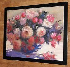 Elizabeth Parsons print - 20''x16'', framed botanical art, bouquet of roses