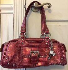 Kathy Vanzeeland Pink Copper Handbag Faux Crystals, Charms
