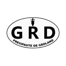 logo groland autocollant adhésif sticker GRD 4 cm