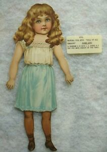 Antique Raphael Tuck Doll of All Seasons ROSEY RUTH  Paper Dolls 4 Outfits  1894