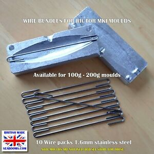 Slow Jig Lure Moulds pre-made wire bundles for 100g or 200g DIY jig making