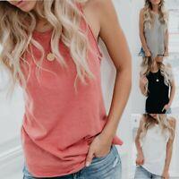Fashion Women Summer Vest Sleeveless Casual Loose Beach Tank Tops T-Shirt Blouse