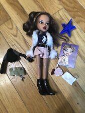 Mga Bratz Yasmin Doll 2001 Brats Long Hair Red Lips W/ Accessories Trade Card