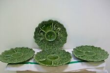 Vintage French 4 X Serving plates #23 green, salad, pasta retro dining
