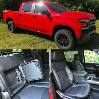 2019-2020 Silverado Crew Cab LT KATZKIN Leather Seat Covers Black RST Trail Boss