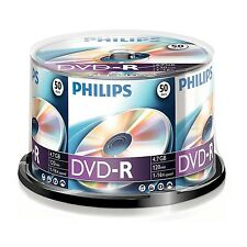 Paquet de 50 PHILIPS 16 x VITESSE DVD-R DISQUES 4.7GB Go MARCHAND GB