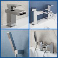 Modern Chrome Waterfall Mono Basin Sink Mixer Tap Bath Shower Filler Showerhead