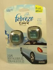 1 REFILL Febreze Car LINEN & SKY Vent Clips Oil Air Freshener