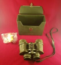 TASCO 8X40 323 RZ Green Binoculars Wide angle PLUS STRUCTURED CASE & LENS COVERS