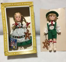 "Boxed Effanbee Hansel & Gretel Dolls 11"" Storybook Fairy Tale Tags USA 1194 1195"