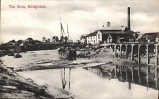 Bridgwater. The Bore by J.Whitby & Sons, Bridgwater. Sailing Barge, Docks &c.