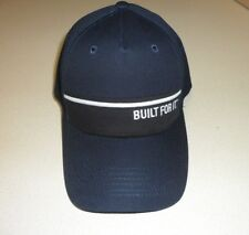 Caterpillar Navy Canvas Built For it CAT logo Trucker Cap Hat Ball cap