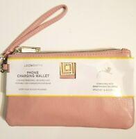 Liz Claiborne Phone Charging Wallet - Pink - Brand New Originally $50