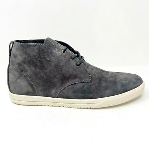 Clae Strayhorn Unlined Dark Charcoal Suede Mens Casual Sneakers