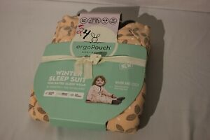 ERGO POUCH AUSTRALIA 2.5 TOG Winter Sleep Suit Size 4 to 5 New Max height 115 CM