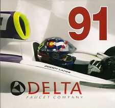 FORMER INDY 500 WINNER BUDDY LAZIER PHOTO CARD- #91 DELTA FAUCET-1996 INDY WIN