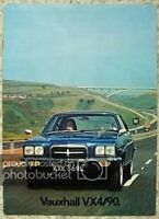 VAUXHALL VX4/90 Car Sales Brochure 1972 #V2121