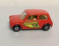 "MATCHBOX  SERIES 1970  #29 ""RACING MINI""   ORANGE.  MADE IN ENGLAND   c"